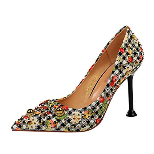 Damen Partykleid Pumps Pointed Toe Slip auf klassischen Stiletto Brautkleid Pumps