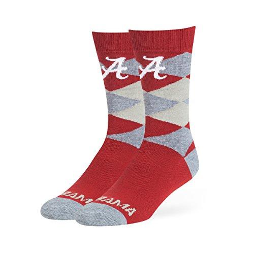 OTS NCAA Alabama Crimson Tide Men's Blaine Dress Sock, Team Color, Large