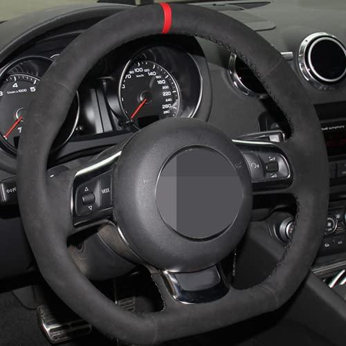 XIDELIANG Cubierta DE Rueda DE Cara DE Caja DE Cuero DE CUERCO DE DIY DIY, para Audi TT 2008~2013