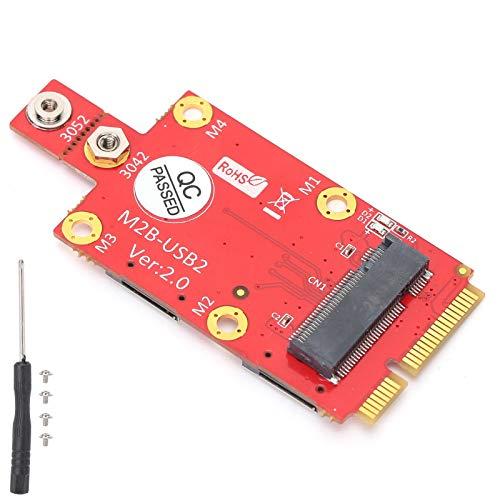 Soapow M.2 a Mini PCI‑E Adaptador Módulo Convertidor con Ranura para Tarjeta SIM Accesorios para Ordenador Portátil