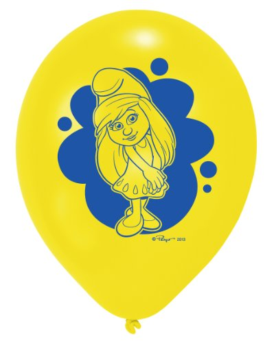 6 Luftballons Die Schlümpfe (offizielles Werbeartikel zum Film Teil 2)