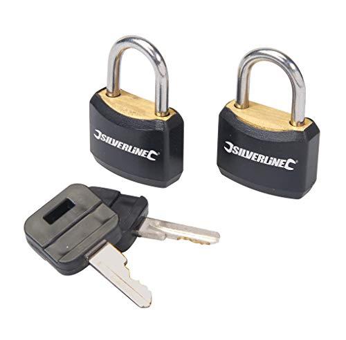 Silverline 663004 Keyed-Alike Luggage Locks 20mm Pack of 2