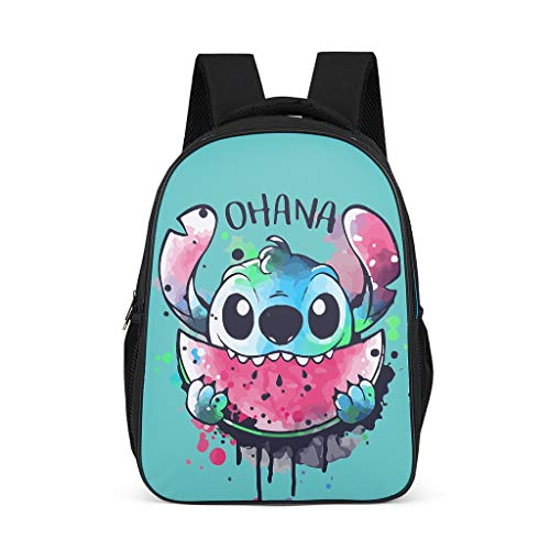 Mochila Ohana Watercolormelon Diseño Stitchy Bookbag ligero Daypack Estudiantes Bolsa para hombres y mujeres, color Gris, talla Talla única
