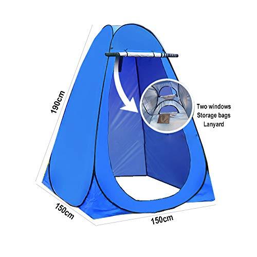 Tents de Camping Pop Up d'intimité de Plage de Douche Pare-Soleil de Chambre bébé Extérieur Sac à Dos Auvent d'abri de Salle de Stockage Portable avec Sac de Transport 150 * 150 * 190