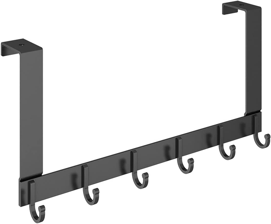 Door Coat Rack Black with for Clothes Hooks Inventory cleanup selling sale Courier shipping free shipping 6 Hanging