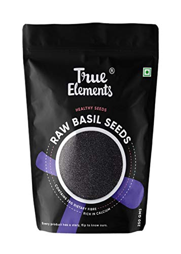 True Elements Raw Basil Seeds for Weight Loss 250gm