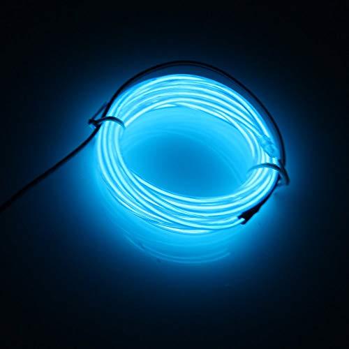 Lerway EL Draht Streifen Licht Seil Neon Flexible Drei Meter Kabel DIY Led-beleuchtung Multicolor Cosplay Halloween Weihnachten Neujahr Geburtstag Party Dekoration (Blau)