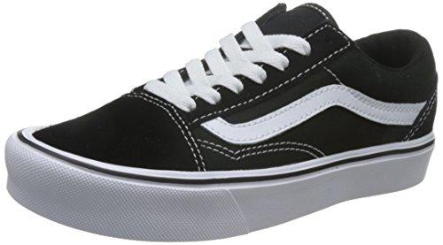 Vans Unisex-Erwachsene Old Skool Lite Sneaker, Schwarz (Suede/Canvas), 35 EU