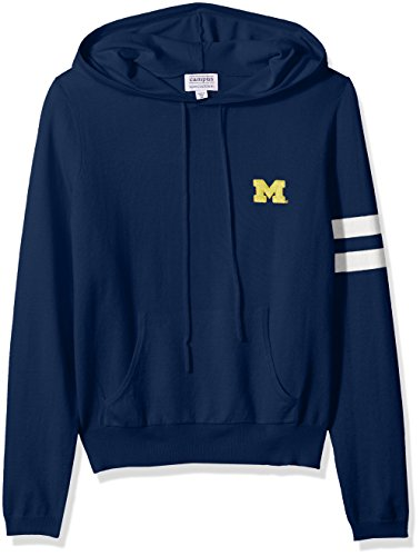 NCAA Michigan Wolverines Women's Campus Specialties Hooded Sweater, Navy, Medium