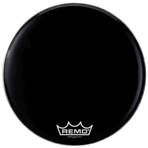 Remo Powermax 2 Ebony Crimplock Bass Drumhead, 28