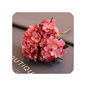 Daydreaming-shop Artificial Flowers Silk Hydrangea Retro Fake Flowers for Wedding Party Home Decor Silk Flowers-3-