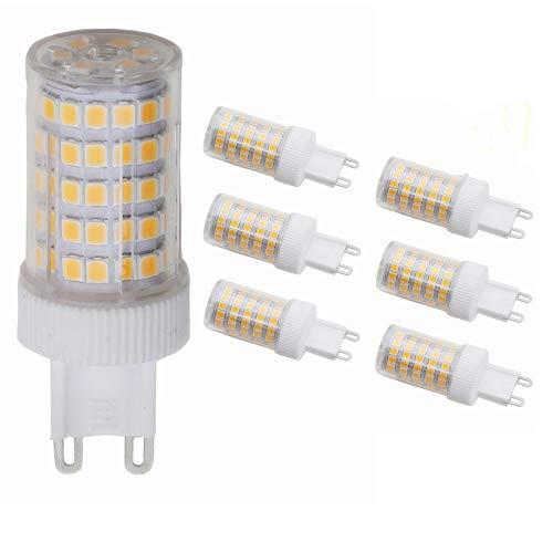 6 pacchi 10W lampadina LED G9 bianco caldo 3000k Risparmio Energetico 800 lumen 360 Fascio luminoso AC200-240V (10)
