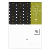 ドットハッピーハロウィン恐怖 詩のポストカードセットサンクスカード郵送側20個