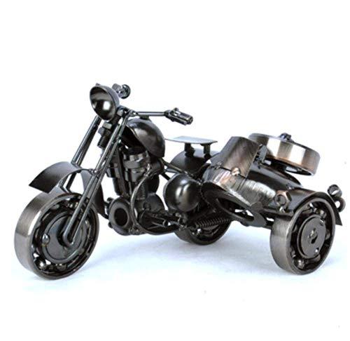 LHQ-HQ Adornos esculturas estatua estatua decoraciones, metal motocicleta ornamento escultura hierro arte motocicleta Tooarts decoración del hogar artesanía escultura moderna artesanía regalo
