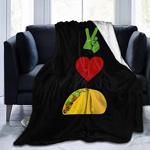 lanjiangbaih Paix, Amour, Tacos clásicos Tuco Bell - Funda de sofá para Silla parezosas, niños y Adultos (80 x 60 Pulgadas), 50x40 Inch