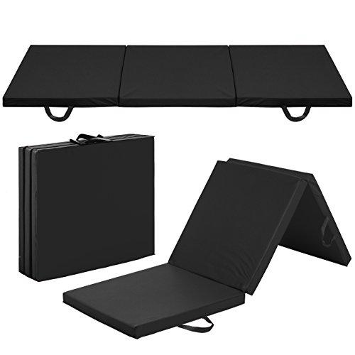 Best Choice Products 6x2ft Tri-Fold Foam Exercise Gym Floor Mat for Yoga, Aerobics, Martial Arts w/Handles - Black