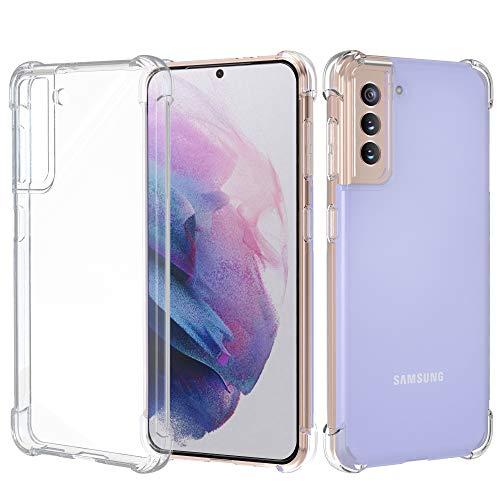 Migeec Funda para Samsung Galaxy S21 Plus/S21+ 5G Suave TPU Gel Carcasa Anti-Choques Anti-Arañazos Protección a Bordes y Cámara Premiun Carcasa para Samsung Galaxy S21 Plus/S21+ 5G - Transparente