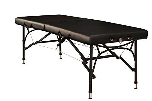 Mt Massage Violet-Sport 28'' Light Weight Aluminum Portable Massage Table Package(Black)
