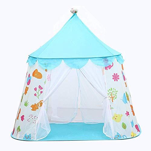 Tienda Tipi para Niños/Niña Tienda De Juegos Juguetes para Niñas/Niños Interior Y Exterior, Lona De Poliéster Natural Tienda Tipi De Castillo para Niños, Azul