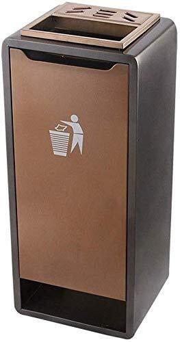 SHAOXI Trash/Mülleimer Trash kann Edelstahl-Abfalleimer-herausnehmbaren Inneneimer Dekoration Abfalleimer Bar Restaurant Außen Aschenbecher Big Mülleimer Mülleimer (Farbe: Gold) Trash Can Papierkorb