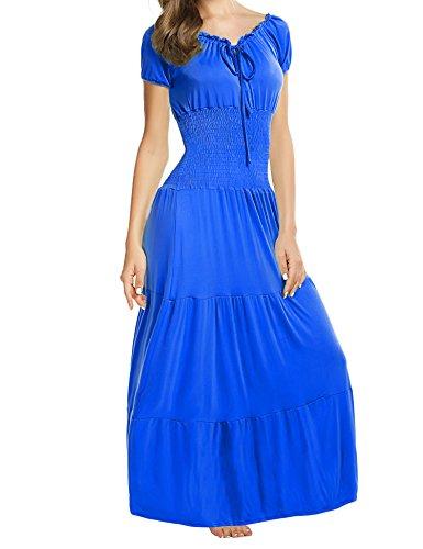 Meaneor Vestito Lungo 770 Blu L