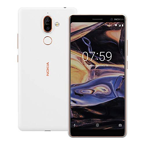 Nokia 7 Plus TA-1046 Dual Sim 64GB/4GB (White) - Factory Unlocked - International Version - No Warranty in The USA - GSM ONLY, NO CDMA - Android One