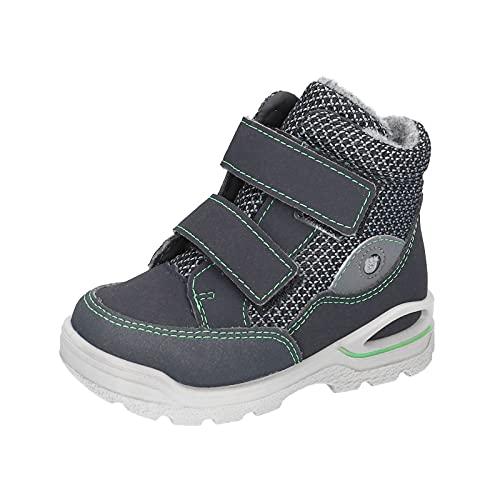 RICOSTA Jungen Boots Lasse von Pepino, Weite: Weit (WMS),Sympatex,waschbar,warm,gefüttert,wasserdicht,Kids,See/Graphit (182),25 EU / 8 Child UK
