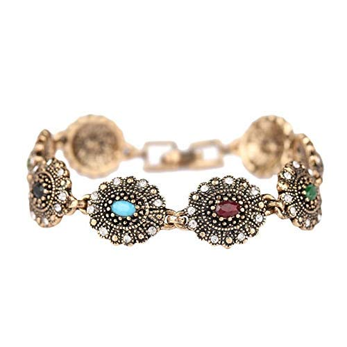 CEXTT Joyas de joyería de botón de 19 mm, Pulseras de Oro Rosa para Mujeres Coloridas