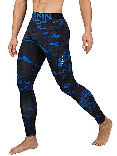 DRSKIN Men's Compression Dry Cool Sports Tights Pants Baselayer Running Leggings Yoga (DMBU07, L)