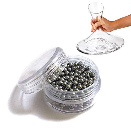 REATR Bolas de Limpieza para Decantadores de Acero Inoxidable para Limpiar Garrafa Botellas de Cristal, floreros, Botellas para bebés, frascos, la cristalería y más Perlas de Limpieza Cleaning Beads