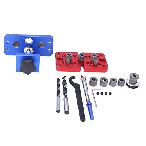 Localizador de perforaciones 3 en 1 para carpintería, abridor de agujeros, perforadora de balsa redonda, suministros industriales adecuados para posicionamiento de perforación
