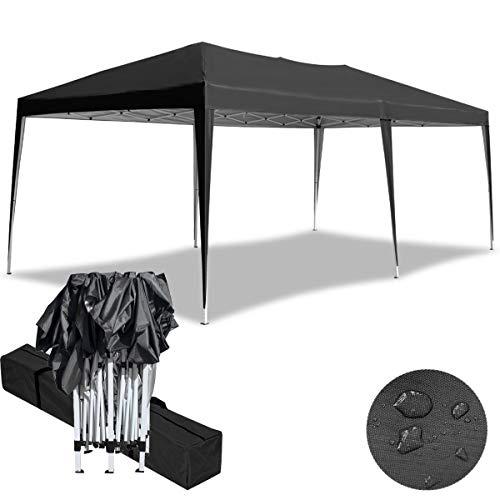 Aufun Faltpavillon Faltzelt 3x6m UV-Schutz - gartenpavillon Partyzelt Gartenzelt Wasserdicht - für Garten/Party/Hochzeit/Picknick, Anthrazit