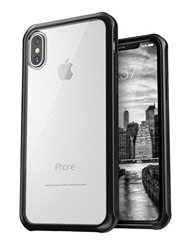 Jaagd hui-59 iPhone X Case, Hybrid Shock Modern Slim, Non-Slip Grip Cell Phone Case - Black