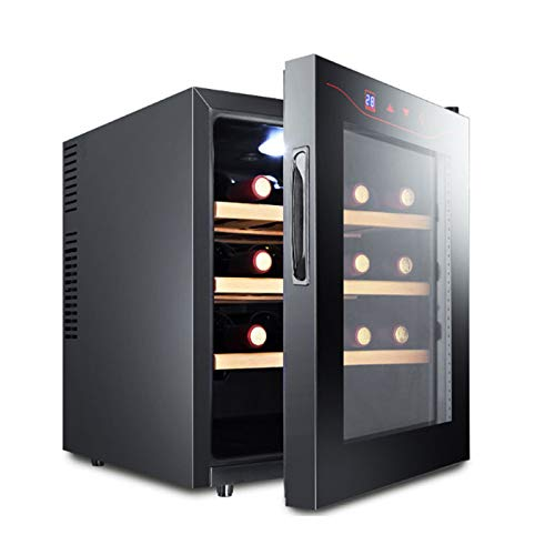 LYYAN vinoteca Nevera,gabinete de Vino con compresor sin Escarcha de 12 Botellas para gabinetes de Vino con Control de Almacenamiento Digital