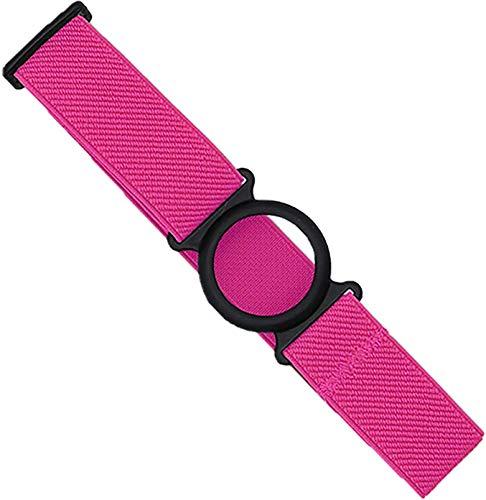Freestyle Libre Fixierband – Ring: Schwarz (Flexibel/Sensitiv) | Diasticker® (Medium: 25-35 cm, Pink)