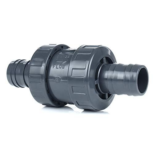 PVC-Rückschlagventil (Federbelastet) mit Schlauchtüllen 40 mm