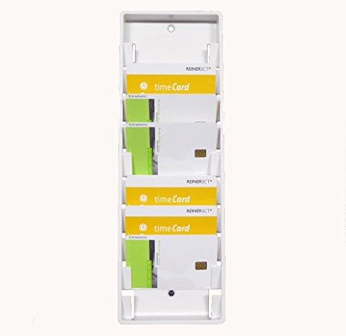 Wandhalter/Kartenhalter für 10 Benutzerkarten/Mitarbeiterkarten/User-Card *Weiss* z.B. für Zeiterfassung/Timerecording