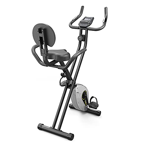 cyclette fitness Bluefin Fitness Tour XP Cyclette Pieghevole Da Casa | Attrezzi Fitness Da Casa | Telaio In Acciaio | 8 Livelli Di Resistenza | Sensori Di Frequenza Cardiaca | App Kinomap | 5 Anni Di Garanzia | LCD