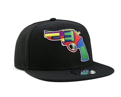 True Heads Snapback Casquette de baseball colorée Noir