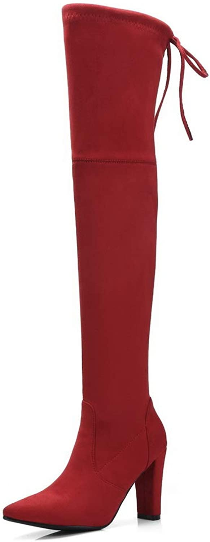 AdeeSu Womens Solid Nubuck Bucket-Style Urethane Boots SXC03685