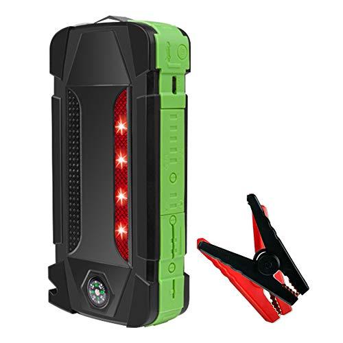 AKT Autobatterien Starthilfe 22000mAh 2000A 12V Tragbarer Notstarter am Ausgang Power Bank Car Booster Startvorrichtung Wasserdicht,Green