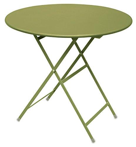 Emu Arc en Ciel Ronde Table Pliante Ø cm. 80 Couleur Vert Pomme Code 60