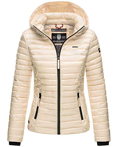 Marikoo Damen Winter Jacke Stepp Jacke mit Kapuze Übergangsjacke SMT2 (XL, Gold)