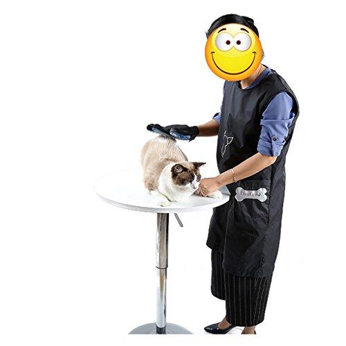 FLAMEER Professionelle wasserdichte Schürze für Hundepflege - M