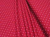 mollipolli-Stoffe Jersey Little Darling rosa Punkte auf rot