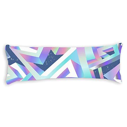 happygoluck1y Fundas de almohada abstractas geométricas sin costuras, 5 pies para adultos, fundas de almohada corporal, fundas de terciopelo de 50 x 150 para cama, adolescentes y niñas