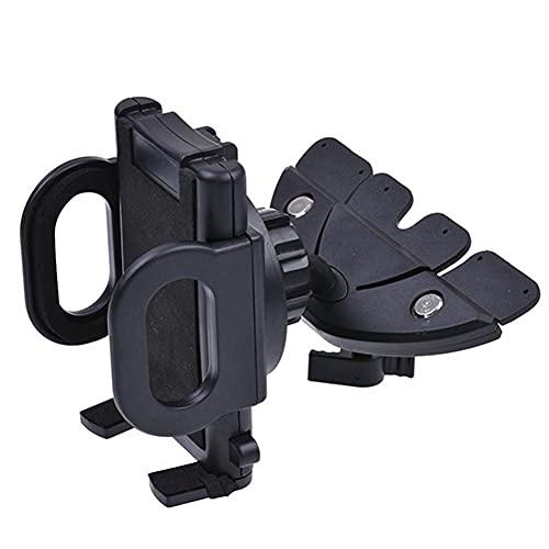 USNASLM Soporte universal giratorio para coche con ranura para CD, para iPhone, teléfono celular, GPS, soporte para teléfono móvil, para cama, soporte para teléfono móvil, para mano