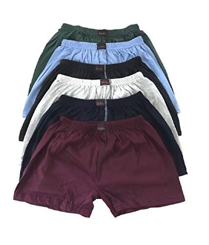 6/9 / 12 Stück Basic Herren Boxershorts Unterhosen mit Eingriff auch in Übergröße (12, 10)