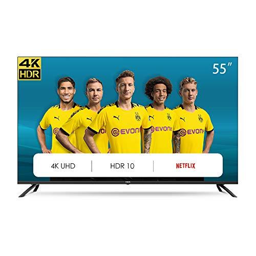 CHiQ U55H7L UHD 4K Smart TV, 55 Pouces(139cm), HDR10/hlg, WiFi, Bluetooth, Prime Video, Netflix 5,1, Youtube Kids,3 HDMI,2 USB,Frameless