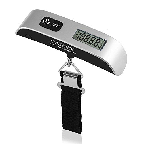 Camry Digital Luggage Scale 110 Lbs Portable High Precision Travel Hanging Postal Scale with Temperature Sensor and Tare Function...